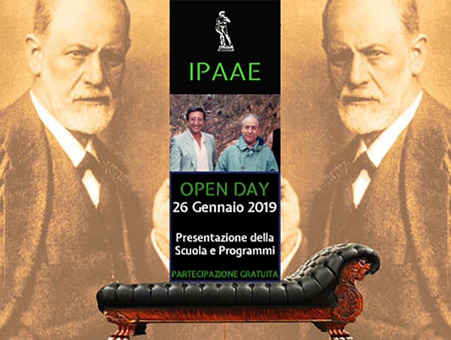 OPEN DAY  Scuola di psicoterapia IPAAE   26 Gennaio dalle ore 10.00 alle 13.00  Presentazione della scuola e dei programmi formativi   LA PARTECIPAZIONE È GRATUITA